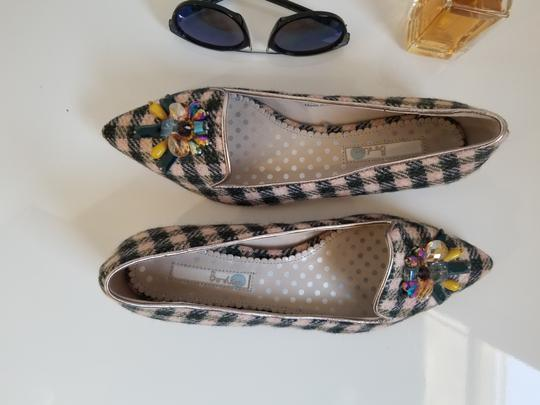 Boden Tweed Crystal Leather Gray, Ivory Flats Image 7