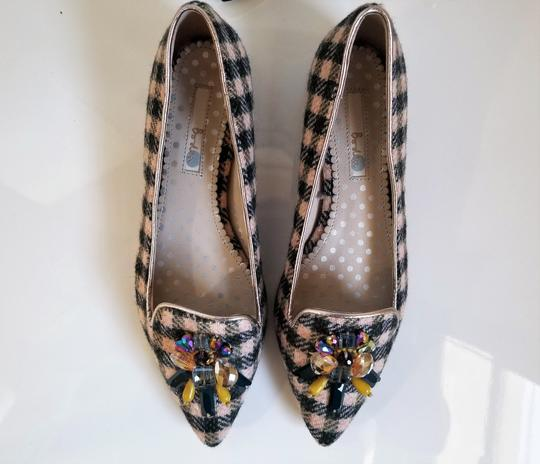 Boden Tweed Crystal Leather Gray, Ivory Flats Image 8