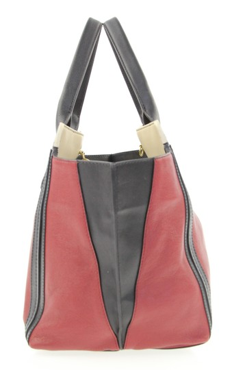 Chloé Leather Luxury Gold Hardware Tote in Red