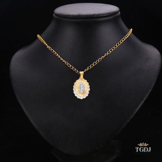 Top Gold & Diamond Jewelry 14K Yellow White Rose Gold Religious Guadalupe CZ Pendant