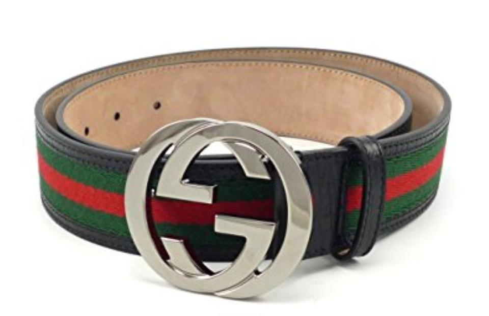 2cb907378db Gucci Multi-color Men Red Green Web Black Leather G Buckle - 85 34 ...