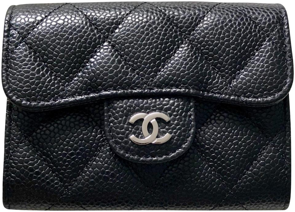436d394976ef Chanel Black Xl Card Holder with Mona Lisa Pocket Wallet - Tradesy