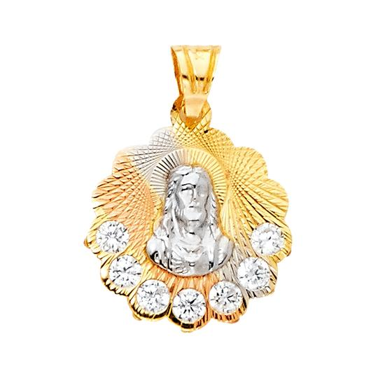 Preload https://img-static.tradesy.com/item/23295416/tri-color-14k-yellow-white-rose-religious-guadalupe-cz-pendant-charm-0-0-540-540.jpg