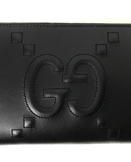 Gucci GUCCI 453396 Original Apollo with Embossed GG Zip Around Leather Walle