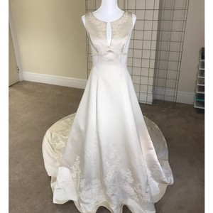 Alfred Angelo Champagne Feminine Wedding Dress Size 12 (L)