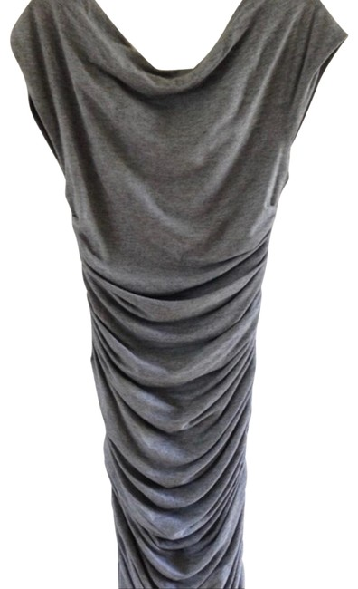 Preload https://img-static.tradesy.com/item/23295627/jay-ahr-grey-cap-sleeve-rouched-night-out-dress-size-4-s-0-1-650-650.jpg