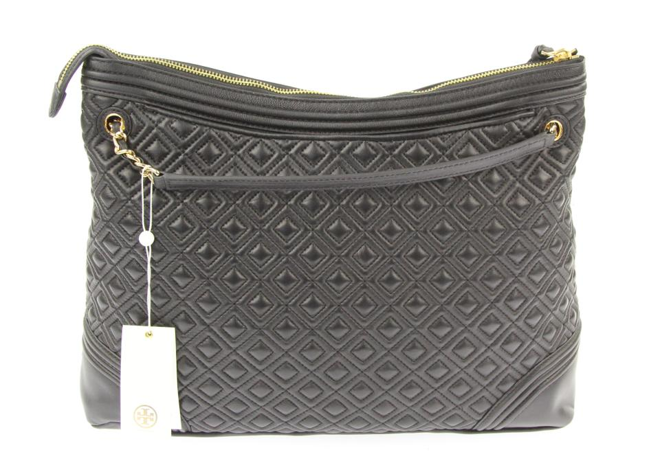Tory Fleming Tote Leather Burch Black nnafr