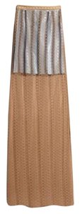 Burberry London Maxi Skirt Bright Toffee