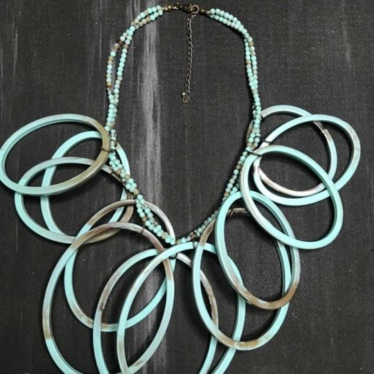 Anthropologie Layered Beaded Looped Tribal Statement Necklace
