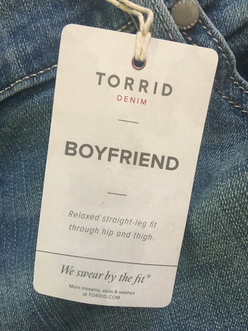 Torrid Boyfriend Cut Jeans-Light Wash