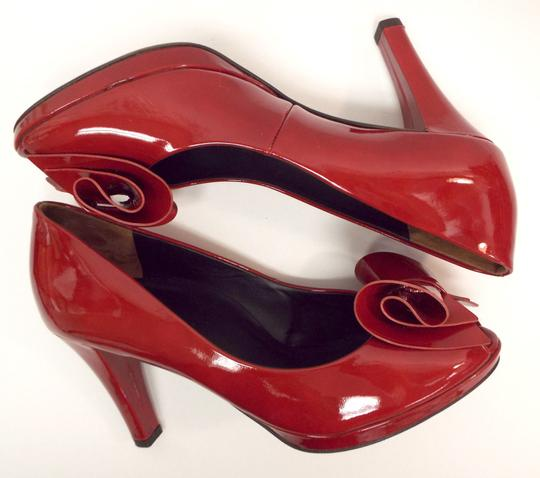 Paul Green Pg Open Toe Bow Red Pumps