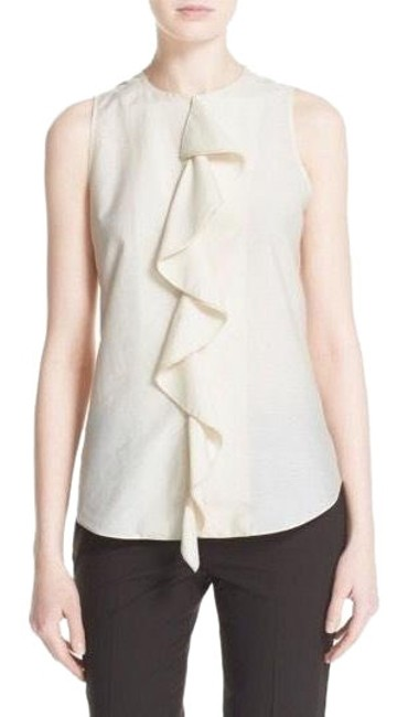 Preload https://img-static.tradesy.com/item/23295759/theory-stucco-ruffle-sleeveless-crepe-silk-blend-blouse-size-12-l-0-1-650-650.jpg