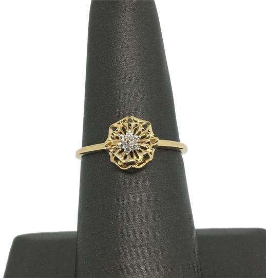 Other 14K Yellow Gold Flower CZ Ring