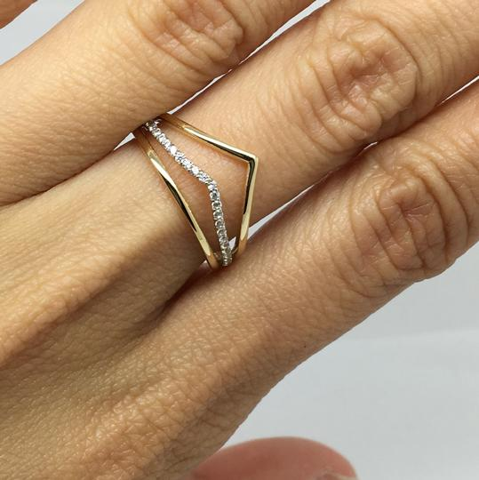 Other 14K Yellow Gold CZ Wide Ring