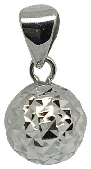 Preload https://img-static.tradesy.com/item/23295809/18k-white-gold-diamond-cut-ball-pendant-charm-0-1-540-540.jpg