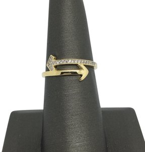 Other 14K Yellow Gold CZ Arrow Ring