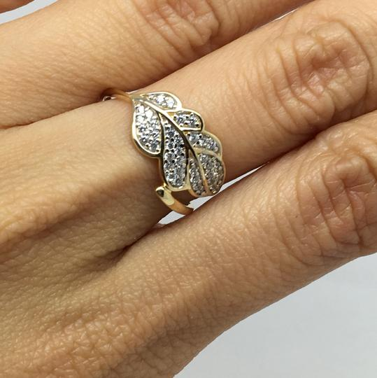 Other 14K Yellow Gold Leaf Style CZ Ring