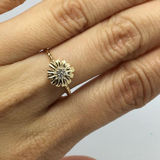 Other 14K Two-Tone Gold Flower Ring