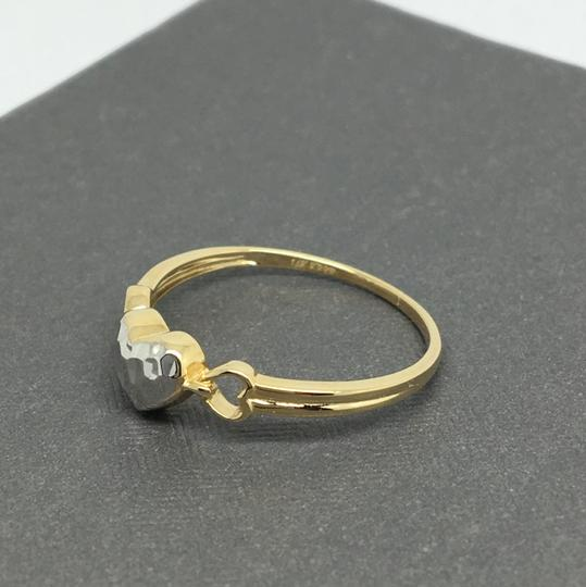 Other 14K Two-Tone Gold Heart Ring