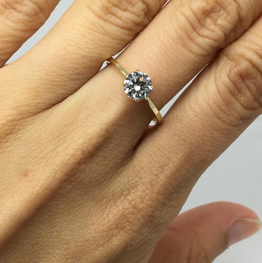 Other 14K Yellow Gold CZ Solitaire Ring