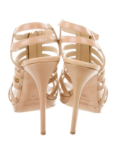 Jimmy Choo Glenys Micro-mini Caged Multistrap Nude Sandals