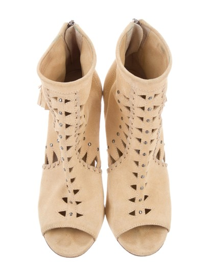 Jimmy Choo Suede Stiletto Nude Boots
