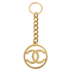 Chanel Authentic CHANEL Vintage CC Keychain Gold