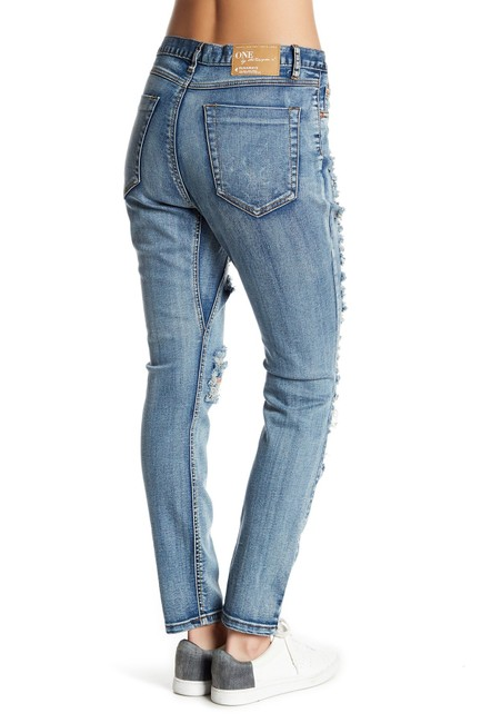 One Teaspoon Boyfriend Cut Jeans-Medium Wash