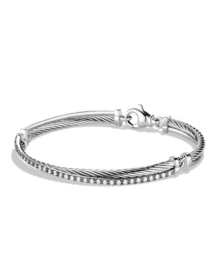 Preload https://img-static.tradesy.com/item/23296077/david-yurman-silver-crossover-with-diamonds-bracelet-0-0-540-540.jpg