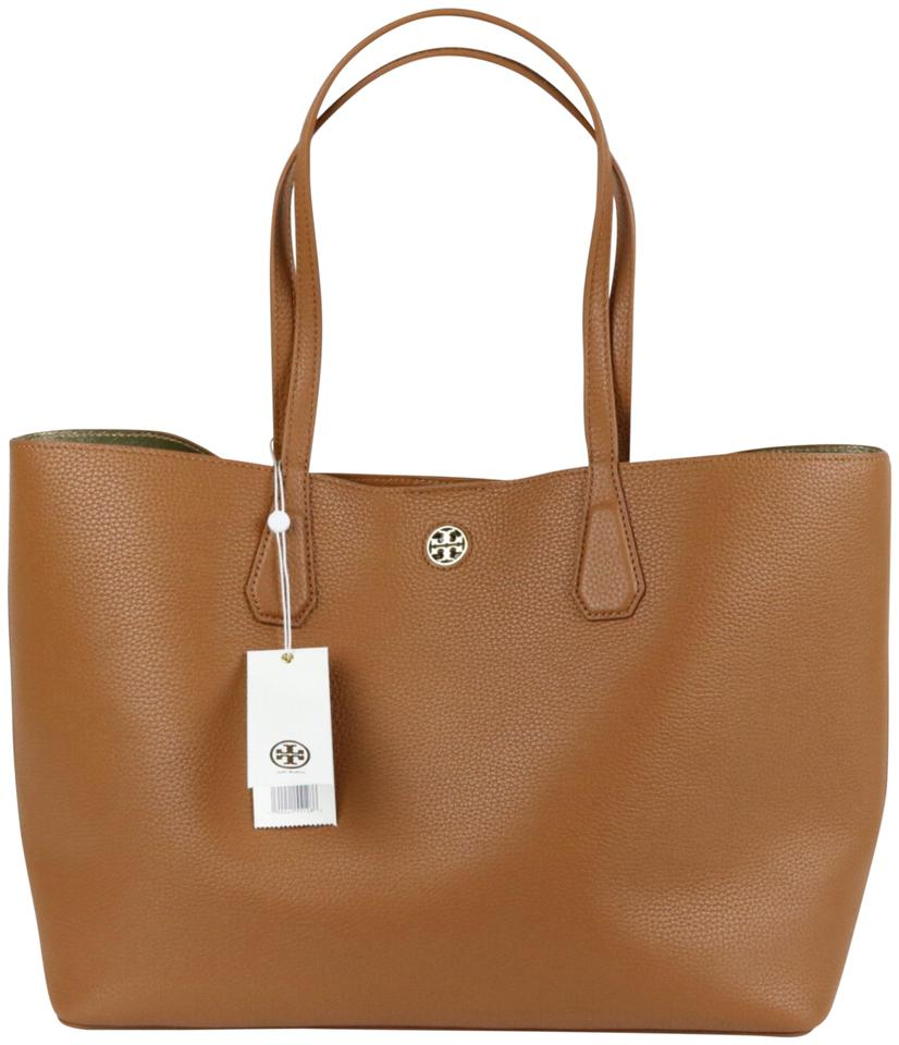 4daa8af75a9 Tory Burch Perry / Bark / Light Gold Leather Tote - Tradesy