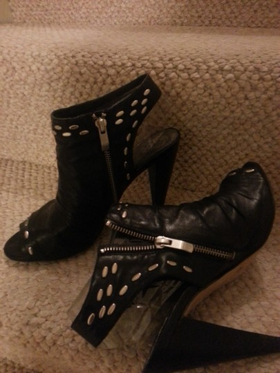 Vince Camuto Studded Leather Black Boots