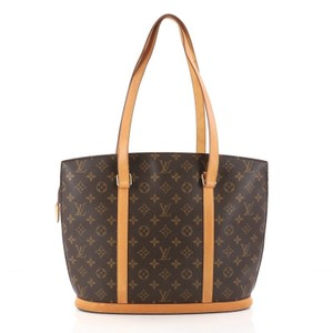 Louis Vuitton Babylone Canvas Tote in Brown
