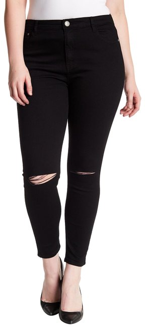 Preload https://img-static.tradesy.com/item/23296169/glamorous-black-distressed-skinny-boyfriend-cut-jeans-size-34-12-l-0-1-650-650.jpg