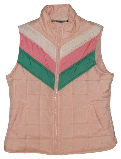 Preload https://item4.tradesy.com/images/one-step-ahead-puffy-pink-with-white-and-green-vest-2329633-0-0.jpg?width=400&height=650