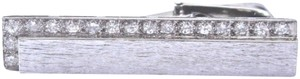 "Tai TAI 18Kt Diamond White Gold Brushed Tie Clip .50Ct 1.5"" F-VVS2"