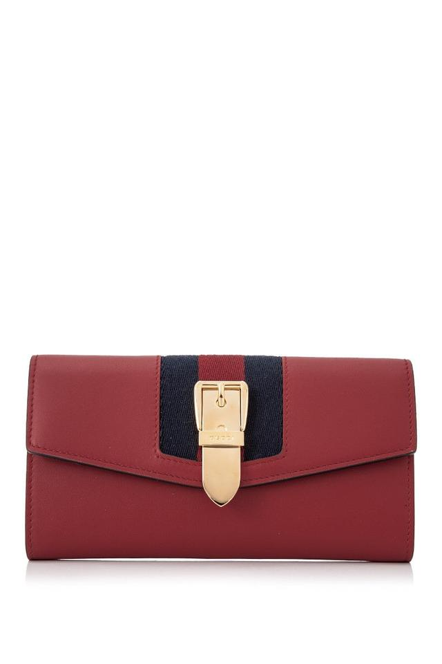 f9572213ad2 Gucci Gucci Sylvie Leather Continental Wallet Red Leather Image 0 ...