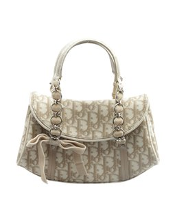 Dior Christian Xcoated Canvas Satchel in Beige