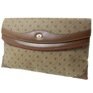 Gucci Made In Italy Brown Clutch