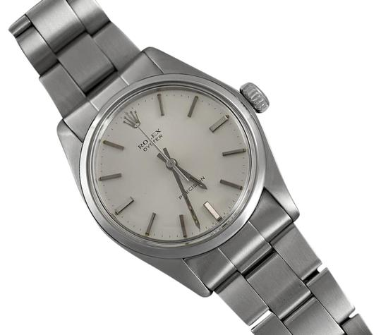 Preload https://img-static.tradesy.com/item/23296541/rolex-silver-1973-oyster-vintage-mens-handwound-stainless-steel-clas-watch-0-1-540-540.jpg