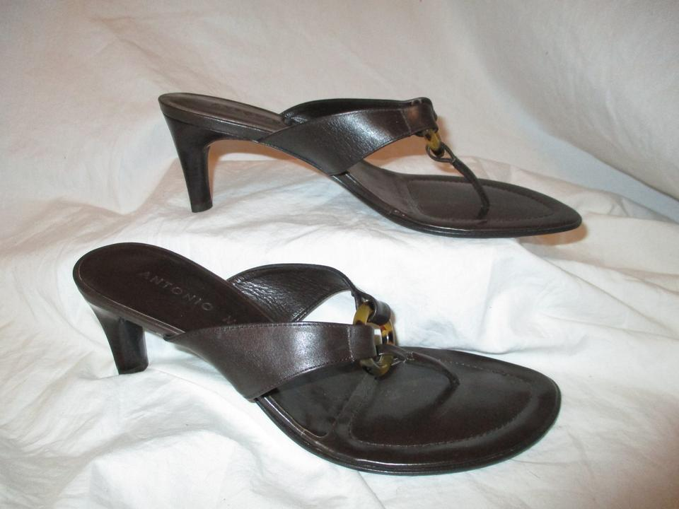 245f9c16a234 Antonio Melani Brown Leather Thong Sandals Size US 8 Regular (M