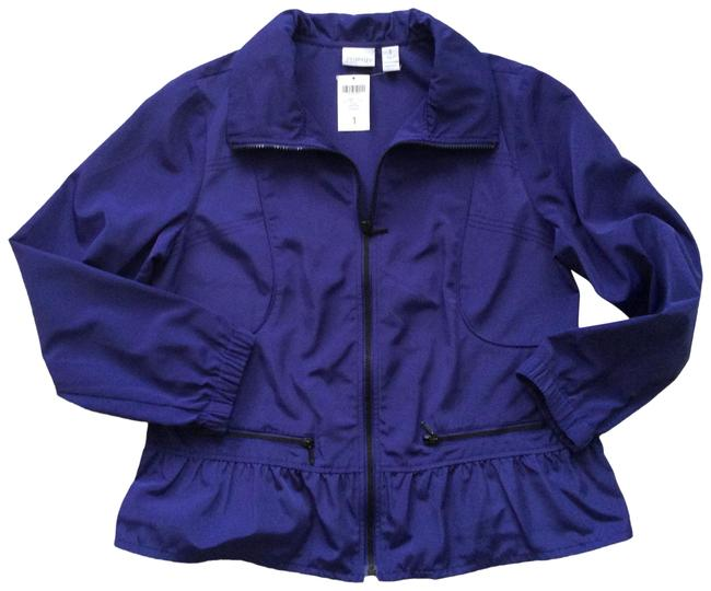 Item - Purple Gem Lolly Peplum Jacket Size 8 (M)