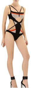 Hervé Leger HERVE LEGER AUDRIE ENGINEERED COLORBLOCKED ONE-PIECE SWIMSUIT