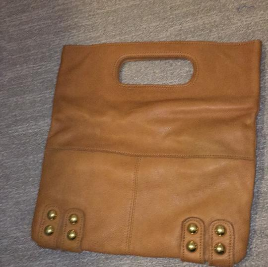 Linea Pelle tan with gold studs Clutch