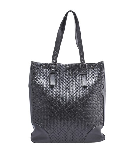 Bottega Veneta Leather Tote in Black