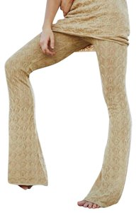 Free People Flare Pants Gold