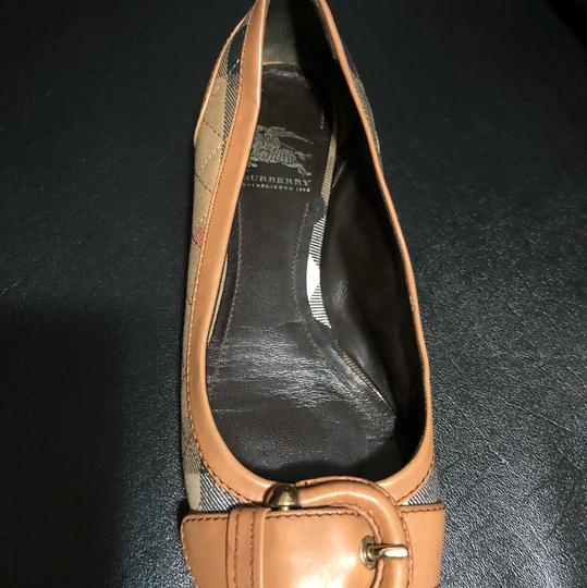 Burberry brown with plaid Flats