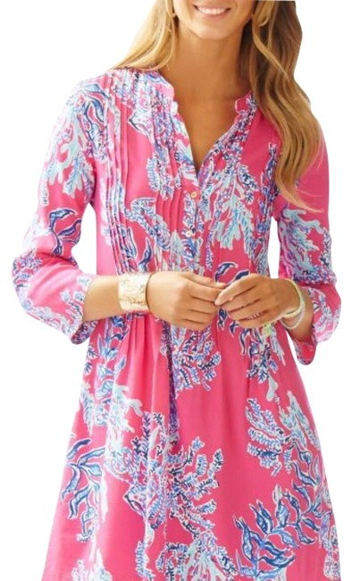 Preload https://img-static.tradesy.com/item/23297020/lilly-pulitzer-pink-sarasota-pintuck-tunic-short-casual-dress-size-12-l-0-1-650-650.jpg