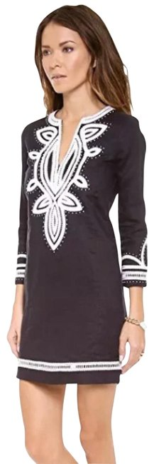 Preload https://img-static.tradesy.com/item/23297080/tory-burch-navy-embroidered-odelia-tunic-cover-up-short-casual-dress-size-4-s-0-1-650-650.jpg