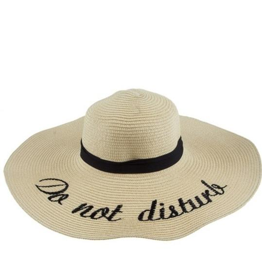 Preload https://img-static.tradesy.com/item/23297118/oatmeal-vacation-beach-floppy-wide-brim-embroidered-new-do-not-disturb-hat-0-0-540-540.jpg