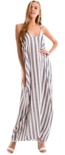 Preload https://img-static.tradesy.com/item/23297132/blue-ivory-harem-stripe-with-pockets-full-length-small-long-casual-maxi-dress-size-6-s-0-1-650-650.jpg